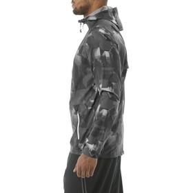 asics fuzeX Packable Jacket Men paint geo dark grey
